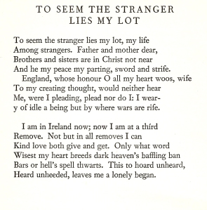 To Seem the Stranger
